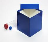 Mittlere Geschenkbox blau - hochglanz - 13,6 x 13,6 x 13,0 cm